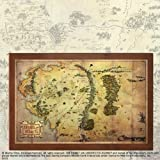 The Noble Collection-Lord of The Rings Karte von Mittelerde