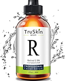 TruSkin RETINOL Serum for Wrinkles, Fine Lines - [BIG 2-OZ Bottle] - Vitamin A, E, Hyaluronic Acid, Organic Green Tea, Jojoba Oil, BEST Anti Wrinkle Facial Serum. 2oz