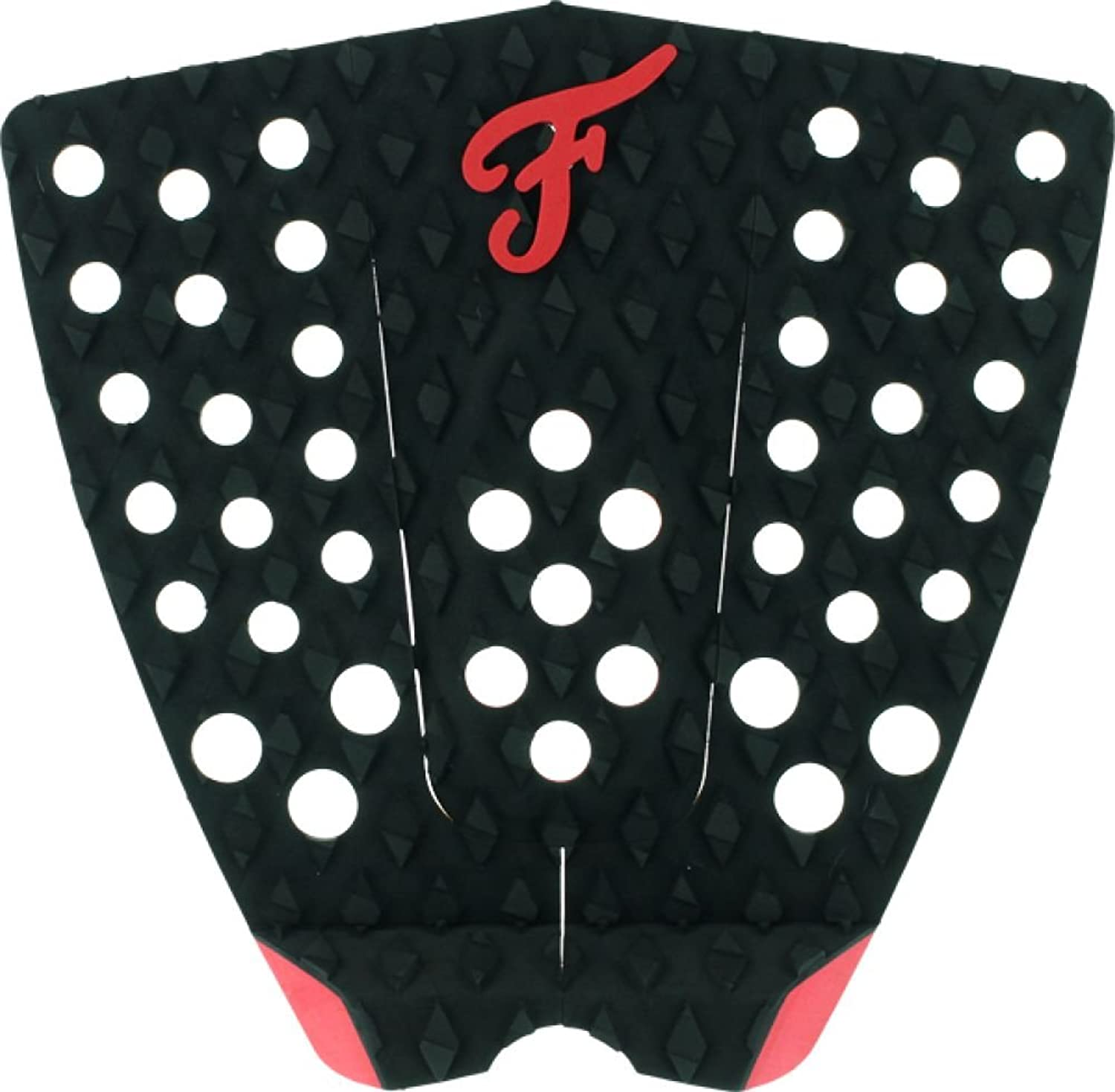 Famous Bondi 1pc Black Red Traction Surf Traction Pads