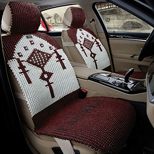 Find Discount ZHPRZD Car Seat Covers Color Linen Handmade Car Seat Cushion Ice Silk Linen New Summer...
