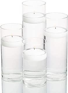Set of 48 Eastland Cylinder Vases and 48 White Richland Floating Candles 3