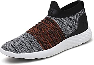 No.66 TOWN Men's Slip-on Socks Walking Shoes Breathable Flyknit Running Sneakers
