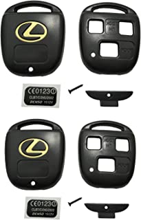Horande Keyless Entry Remote Control Key Replacement Key Fob Case Shell Fit For Lexus ES GS GX IS LS LX RX SC Key Fob Cover Case (Pack 2)
