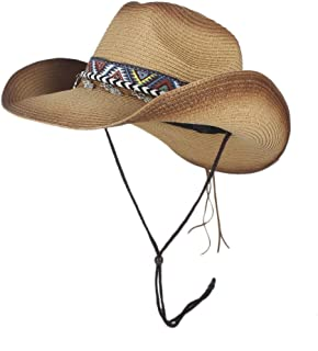 Sun Hat for men and women Summer Fashion Outdoor Beach Paper Straw Hat Black Spray Paint Unisex Women Panama Style Cowboy Cowgirl Hats Large Brim Sunhat Panama Hat