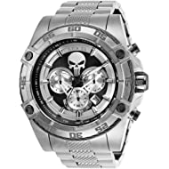 Invicta Men's Marvel Quartz Watch with Stainless-Steel Strap, Silver, 26 (Model: 26863