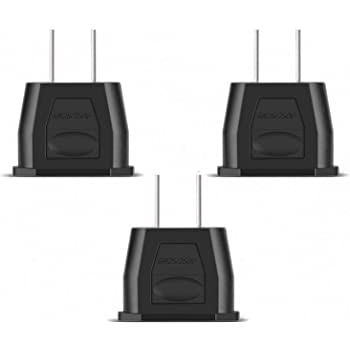 Incutex 3X adaptateurs USA Adaptateur Etats-Unis Adaptateur EU USA Type A US Adapter, Canada, Mexique, Noir