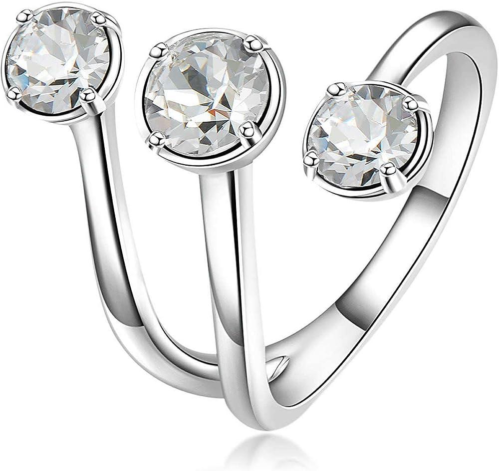 Brosway  affinity anello per donna in ottone rodiato e cristalli swarovski BFF82C