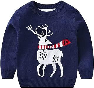 iLOOSKR Christmas Toddler Kids Baby Girls Boys Warm Cartoon Print Sweater Knit Crochet Tops Outfits