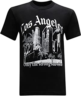 California Republic Los Angeles Only The Strong Survive Men's T-Shirt