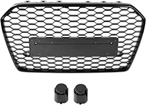 S6 2016-2018 1-Pack Xinshuo ABS Honeycomb Typ Mesh Front K/ühlergrill f/ür RS6 Style A6