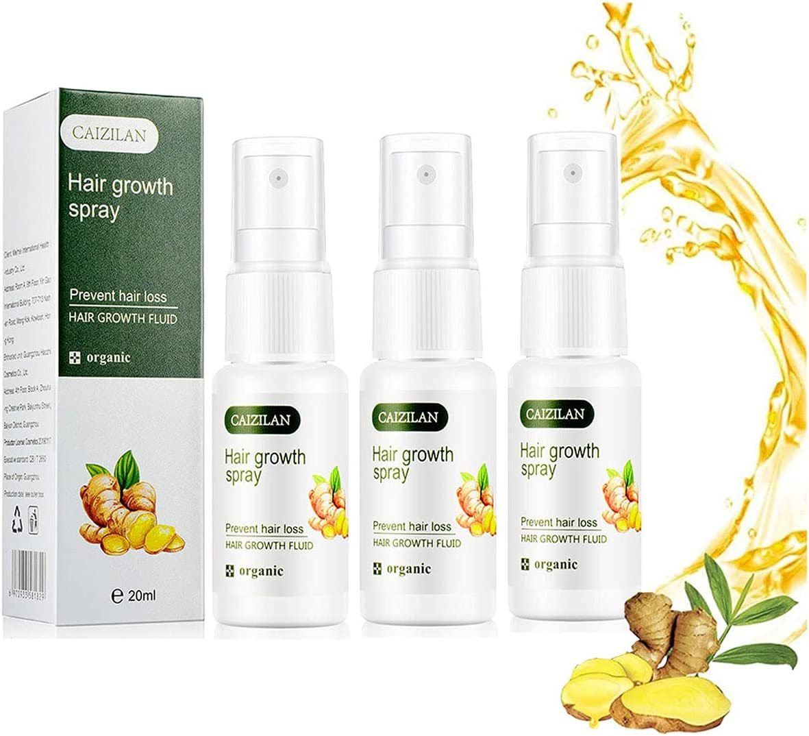 Ginger Germinal Oil Hair Growth Serum Natural Biotin Spray Large OFFicial shop special price