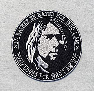 Nirvana Kurt Cobain Quotes Rock Band Grunge Music Embroidered Iron on/Sew on Badge Patch