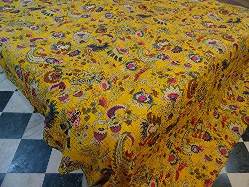 Tribal Textiles asiatiques fabriqué à la main Suzani Imprimé Reine Taille Couvre-lit King Housse Couette Lit Couverture, X, X, X, Parure de lit Bohème x Taille 228,6 cm x 108