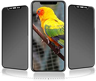 iPhone x/xs ガラスフィルム JASBON アイフォンx 液晶保護フィルム 覗き見防止 全面保護 日本製旭硝子素材 硬度9H 気泡防止 飛散防止 3D Touch対応 ラウンドエッジ 極薄0.33mm (iPhone10用フィルム)