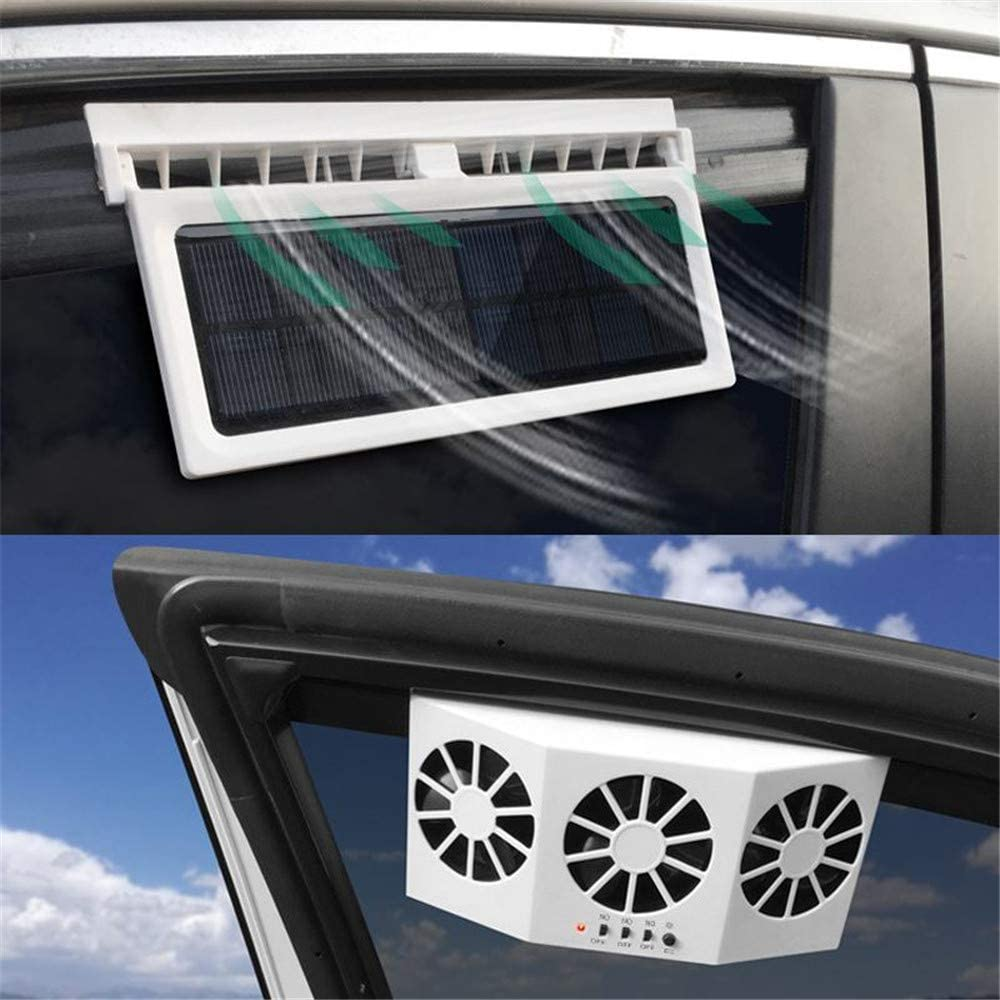 Car Solar Power Price reduction Fan Courier shipping free shipping Exhaust Outle Air Double