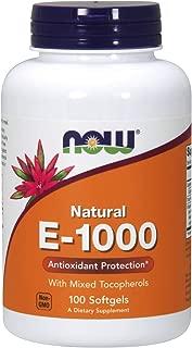 NOW Supplements, Vitamin E-1000 IU Mixed Tocopherols, 100 Softgels