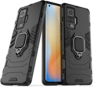 vivo X51 5G Case, vivo X51 5G Stand Case, vivo X51 5G Ring Holder Case, Finger Loop Case with 360 Degree Rotatory Ring Sta...