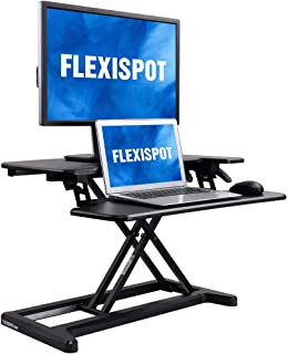 FlexiSpot Stand Up Desk Converter -28 Inches Standing Desk Riser with Deep Keyboard Tray for Laptop (28