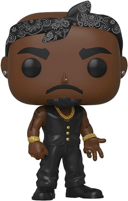Amazon.com: Funko POP! Es increíble: Tupac. Chaleco con bandana, multicolor.: Toys & Games