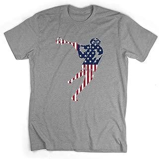 American Flag Silhouette T-Shirt | Guys Lacrosse Tees by ChalkTalk SPORTS