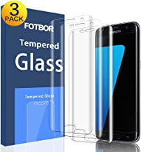 [3-Pack] Galaxy S7 Edge Screen Protector Tempered Glass, CTREEY Full Coverage [Case Friendly] HD Clear Screen Protector Samsung Galaxy S7 Edge [Edge to Edge][Anti-Bubble ] (Glass (Ultra-Clear))