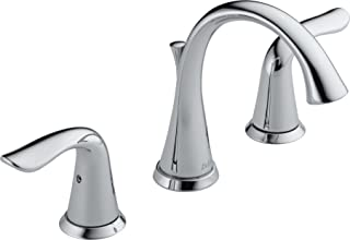 Delta Faucet 3538-MPU-DST Lahara Two Handle Widespread Lavatory Faucet, Chrome