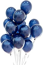 Blue and White Balloons 12 inch 75pcs Latex Party Balloons Birthday Balloons Baby Shower Balloons