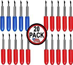 20 Pack -USA Made- Cricut Replacement 15-45° Standard 5-60 Deep Cut Compatible Blades Explore Air/Air 2 Maker Expression Vinyl Fabric Scrapbook Cutting Blades Replacements