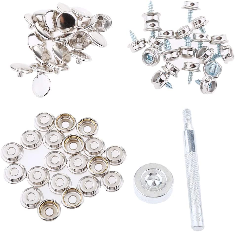 Homyl 152Pcs Stainless Steel At the price of surprise Boat Marine 3 8 Fastener Cover Snap Under blast sales