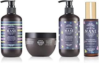 South Mane Macadamia Hair Care Set: Shampoo,Conditioner,Mask,Oil