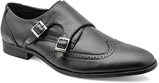 tresmode Men's Brogue Monk Strap Casual Loafers