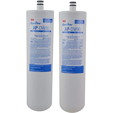 3M Aqua-Pure Under Sink Replacement Water Filter AP-DW80/90, For Aqua-Pure AP-DWS1000, Reduces Particulate, Chlorine Taste and Odor, Lead, Cysts, VOCs, MTBE