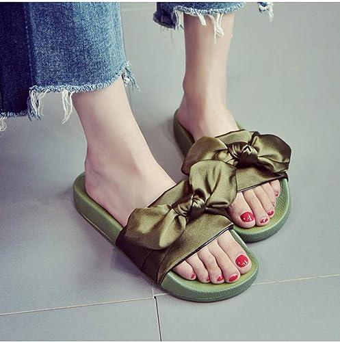 DZKA Sandales Sandales Sandales Pantoufles pour Femmes Diapositives Chaussures De Plage D'été Pantoufles sans Fourrure pour Femme 94e