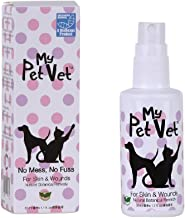 My Pet Vet Ready-To-Spray Pets Skin Problems - Veterinarian Formula, Non-Poisonous, Painless, Treatment for Bacteria and Yeast Infections. All Natural, No Chemicals. Promotes Rapid Healing
