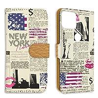 FFANY Google Pixel 5 用 スマホケース 手帳型 ミラータイプ 自由の女神・ニューヨーク 新聞デザイン 包装紙 ラッピング風 グーグル ピクセル ファイヴ SoftBank SIMフリー スタンド スマホカバー 携帯カバー newspaper aao_210133m