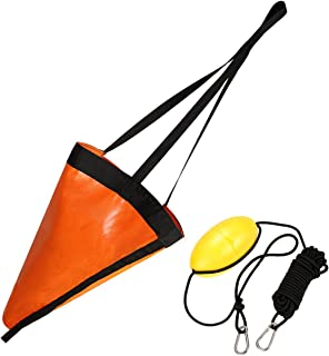 Orange 32-Inch Drift Sock Sea Anchor Drogue with 30ft Kayak Tow Rope Line Buoy Ball Float Leash Sea Brake System for Marine Boat/Yacht/Jet Ski/Inflatable/Power Boat/Sail Boat