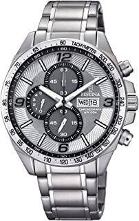 Festina F6861/2 For Men - Analog Casual Watch, Stainless Steel