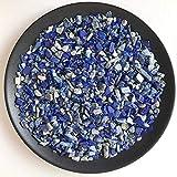 HOULAI 100 g, 5 tamaños de cristal de cuarzo azul natural de lapislázuli pulido de grava especímenes de piedra natural y piedra mineral de acuario
