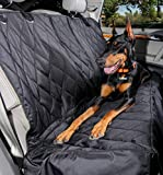 Dog Seat Cover with Hammock for Fold Down Rear Bench Seat 60/40 Split...