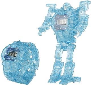 Elettronico Rologio Digitale per Bambini 2-in-1 Trasforma Il Giocattolo del Robot con Luce Notturna Orologio da Ragazzo Ra...
