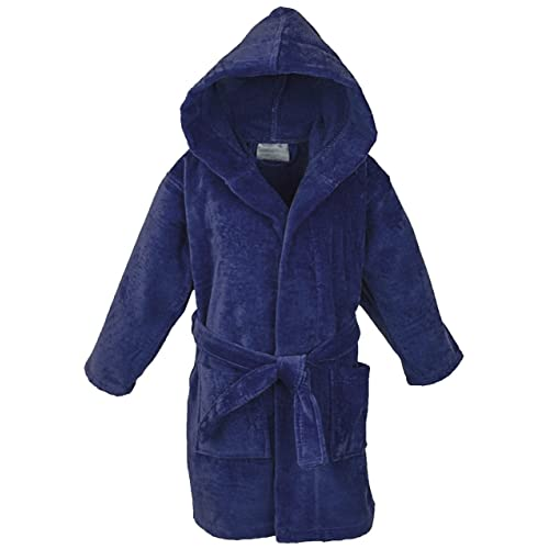 397a180536 Star Boys Girls Kids Bathrobe Cozy Velour Hooded Robe