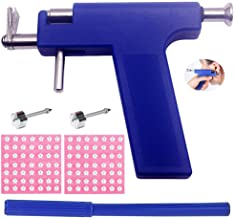 Body Piercing Tool Kit Ear Piercing Gun Ear Nose Navel Piercing Kit with 98 pcs Ears Studs (Blue Piercing Gun Kit Tool Flo...