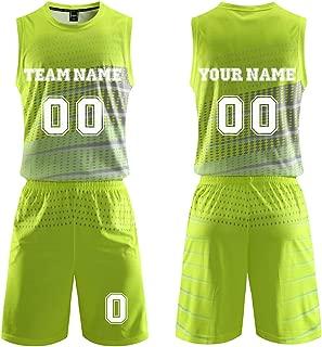 Custom Name Basketball Jerseys and Shorts Set Design Your Own Logo Team Sports Uniform for Men Women