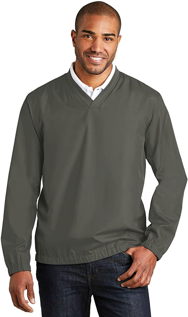 Port Authority Zephyr V-Neck Pullover, Grey Steel, Small