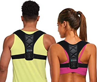 Posture Corrector for Women Men, Back Brace, Comfortable Posture Trainer for Spinal Alignment and Posture Support, Adjusta...