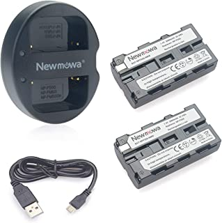 NP-F550 Newmowa Batería de Repuesto (2-Pack) y Kit de Cargador Doble para Micro USB portátil para Sony NP-F550 Sony CCD-SC55 TR516 TR716 TR818 TR910 TR917
