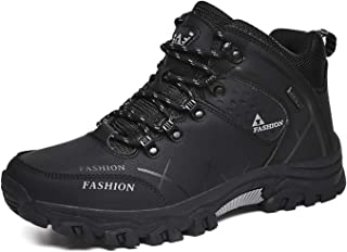 TSIODFO Men Waterproof Hiking Boots Ankle Comfort Autumn Winter Outdoor Backpacking Trekking Sport Walking Shoes Black Size 8 (8528-black-41)