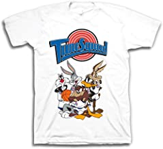 space jam Mens Classic Shirt - Tune Squad Marvin & Bugs Bunny Tee 90's Classic T-Shirt