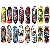 BETOY Monopatines para Dedos, 30pcs Mini Diapasón Patineta Skateboard Fingerboard Juegos de Deportes Niños, Recompensas por Lecciones Escolares (Color Aleatorio)