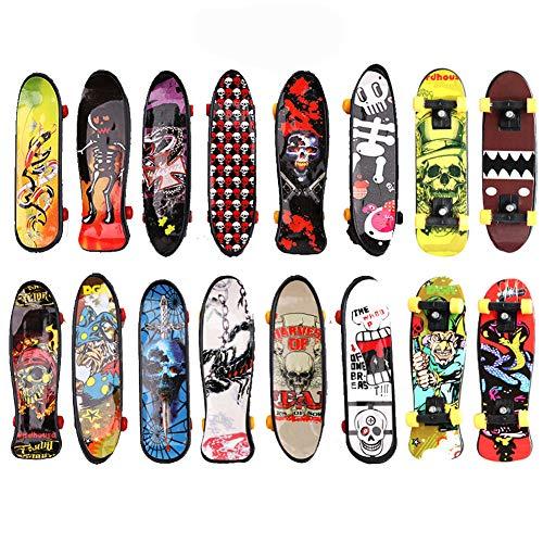BETOY Fingerskateboard Set, 30 Stückes Finger Skateboard Professionelle Mini Fingerboards Skatepark Spiel Schlüsselbund Dekoration Geburtstagsgeschenk Geschenk für Kinder